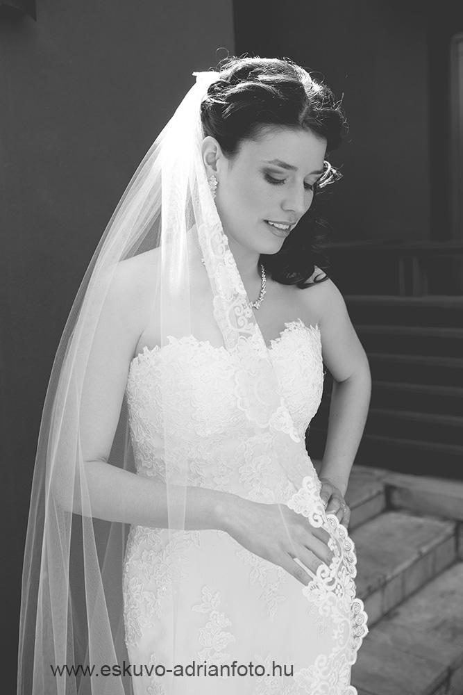 esküvői fotó - bw