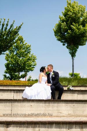 esküvői fotó a Kopaszi Gáton