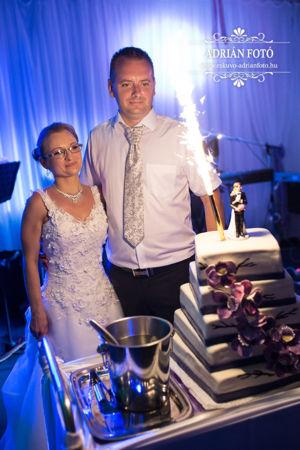 esküvői fotó torta