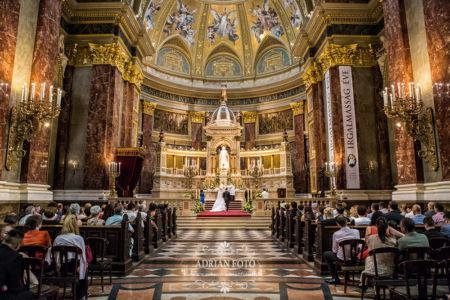 esküvői fotó a Bazilikában